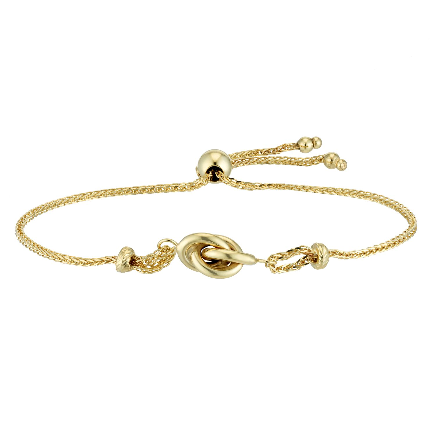 9ct Yellow Gold Knot Adjustable Bracelet - Product number 4518306