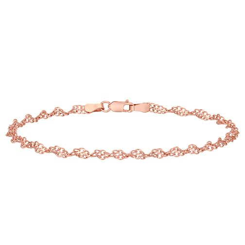 9ct Rose Gold Sparkle Twist Bracelet - Product number 4518349