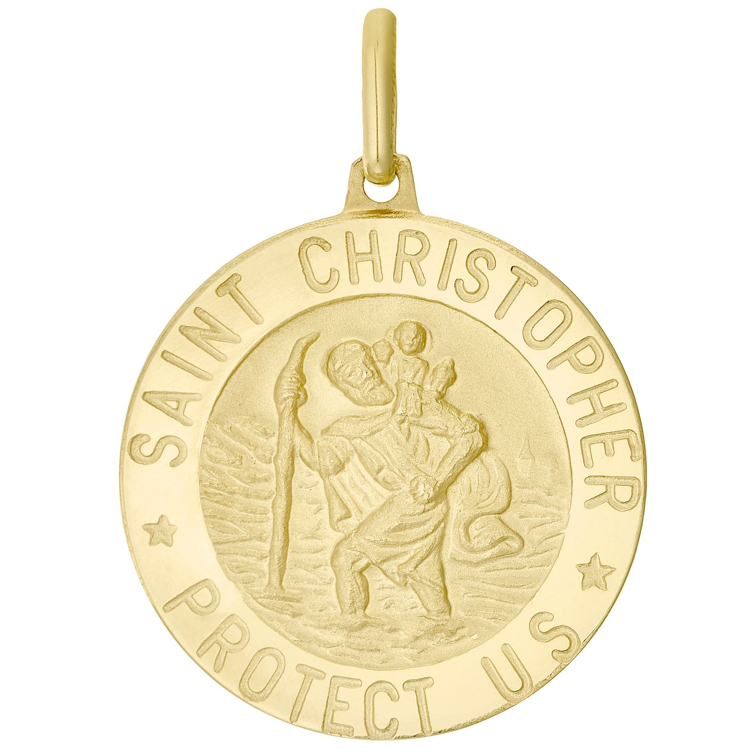 9ct Gold St Christopher Pendant (No Chain) - Product number 4518543