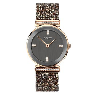 Seksy Rocks® Ladies' Rose Gold Plated Bracelet Watch - Product number 4519310
