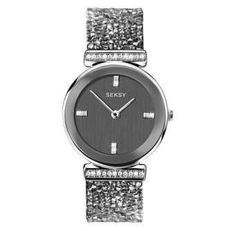 Seksy Rocks Ladies' Rhodium Plated Bracelet Watch - Product number 4519329