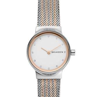 Skagen Ladies' Two Tone Stainless Steel Mesh Bracelet Watch - Product number 4519442