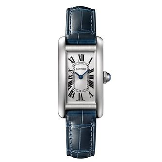 Cartier Tank Ladies' Stainless Steel Blue Strap Watch - Product number 4522508