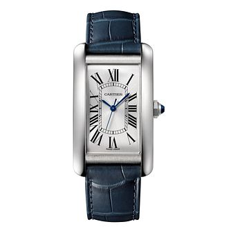 Cartier Tank Men's Leather Strap Watch - Product number 4522567