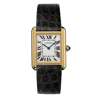 Cartier Tank Solo Ladies' Black Leather Strap Watch - Product number 4522583