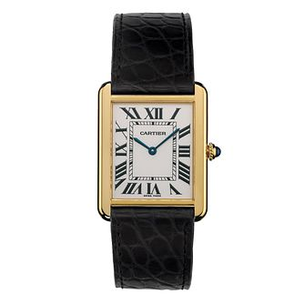 Cartier Tank Solo Men'S Yellow Gold Large Strap Watch - Product number 4522818