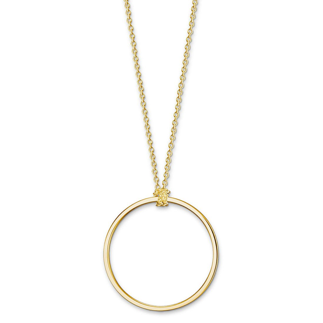 Thomas Sabo Charm Club Gold Plated Minimal Charm Necklace - Product number 4524284