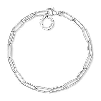 Thomas Sabo Charm Club Silver Paper Clip Charm Bracelet - Product number 4524306