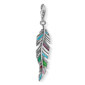 Thomas Sabo Charm Club Silver Decorated Feather Charm - Product number 4524403
