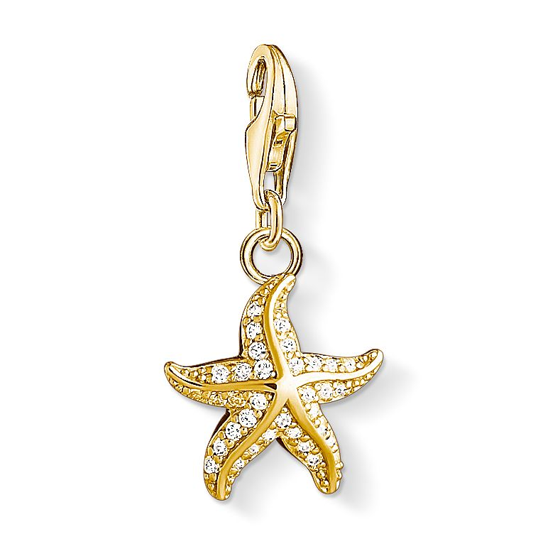 Thomas Sabo Ladies' Yellow Gold Plated Starfish Charm - Product number 4524462