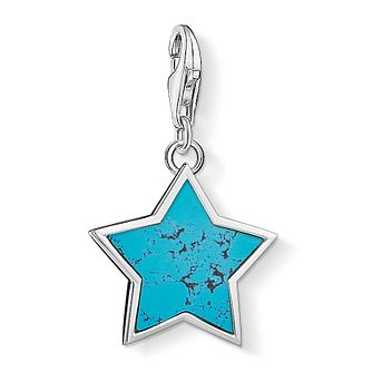 Thomas Sabo Charm Club Silver Turquoise Star Charm - Product number 4524586