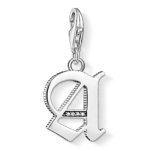 Thomas Sabo Charm Club Silver Vintage A Letter Charm - Product number 4524756