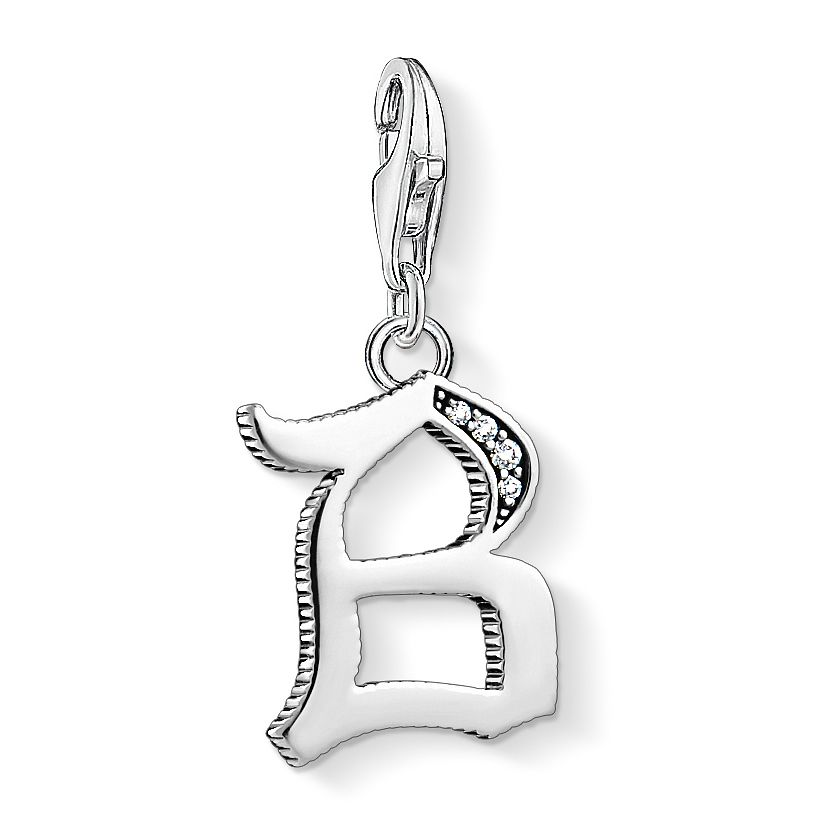 Thomas Sabo Charm Club Silver Vintage B Letter Charm - Product number 4524764