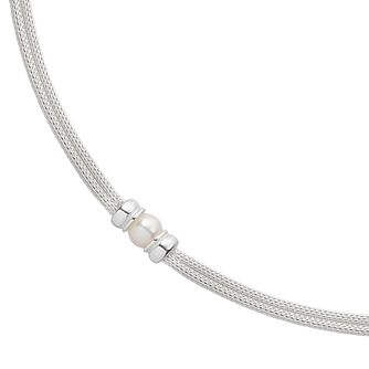 Silver Cultured Freshwater Pearl 2 Strand Necklace - Product number 4529243