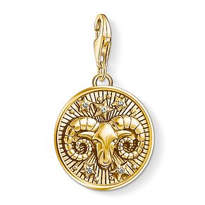 Thomas Sabo Charm Club Gold Plated Aries Charm - Product number 4529928