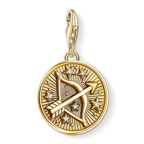 Thomas Sabo Charm Club Gold Plated Sagittarius Charm - Product number 4530055