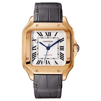 Cartier Santos Ladies' 18ct Rose Gold Square Strap Watch - Product number 4530195