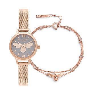 Olivia Burton Lucky Bee Watch & Bracelet Gift Set - Product number 4532147