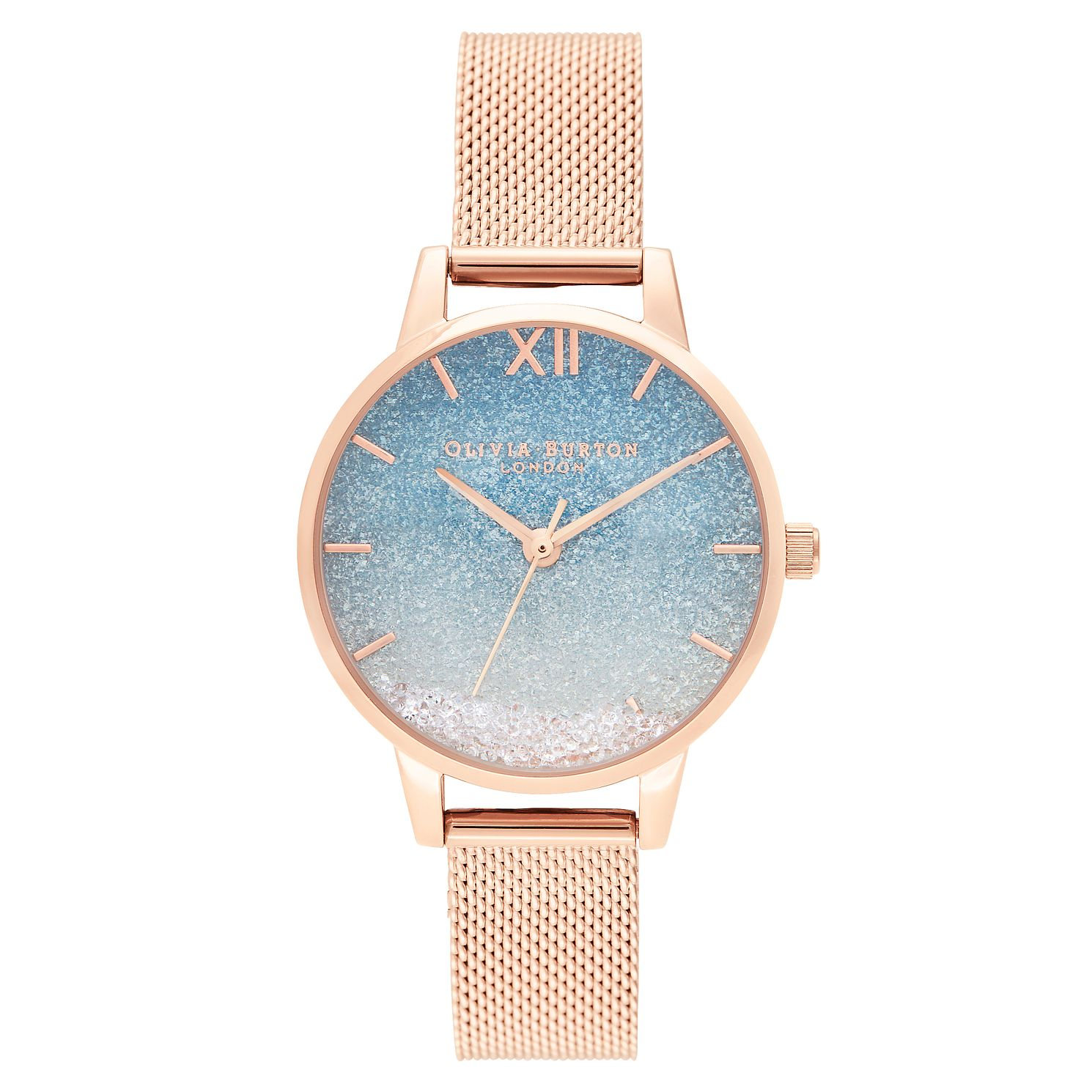 Olivia Burton Wishing Wave Rose Gold Tone Bracelet Watch - Product number 4532236