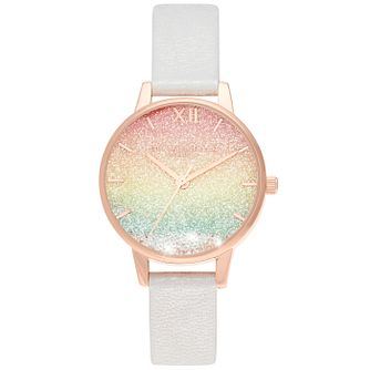 Olivia Burton Rainbow Wishing Wave Sparkle Strap Watch - Product number 4532244