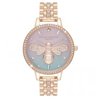 Olivia Burton Sparkle Bee Rose Gold Tone Bracelet Watch - Product number 4532260