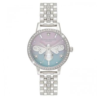 Olivia Burton Sparkle Bee Stainless Steel Bracelet Watch - Product number 4532279