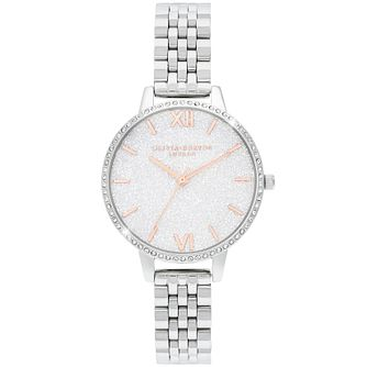 Olivia Burton Glitter Dial Stainless Steel Bracelet Watch - Product number 4532309