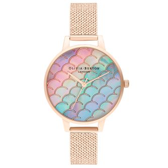 Olivia Burton Mermaid Tale Rose Gold Tone Bracelet Watch - Product number 4532341