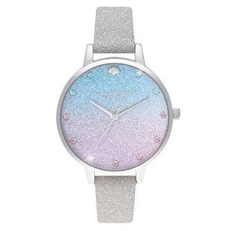 Olivia Burton Wishing Wave Silver Sparkle Strap Watch - Product number 4532562