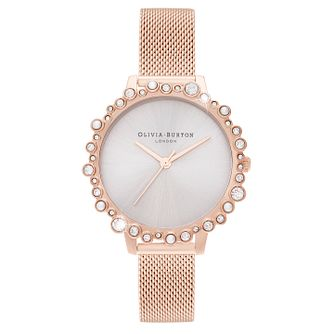 Olivia Burton Bubble Case Rose Gold Tone Bracelet Watch - Product number 4532589
