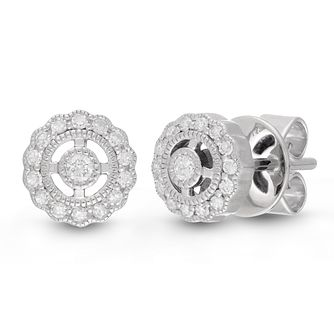 Neil Lane Designs 14ct White Gold 0.15ct Diamond Earrings - Product number 4533305
