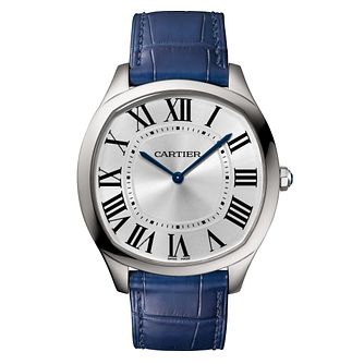 Cartier Men's Drive De Cartier Blue Leather Strap Watch - Product number 4533585