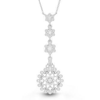Neil Lane Designs Silver 1/4ct Diamond Drop Pendant - Product number 4533623