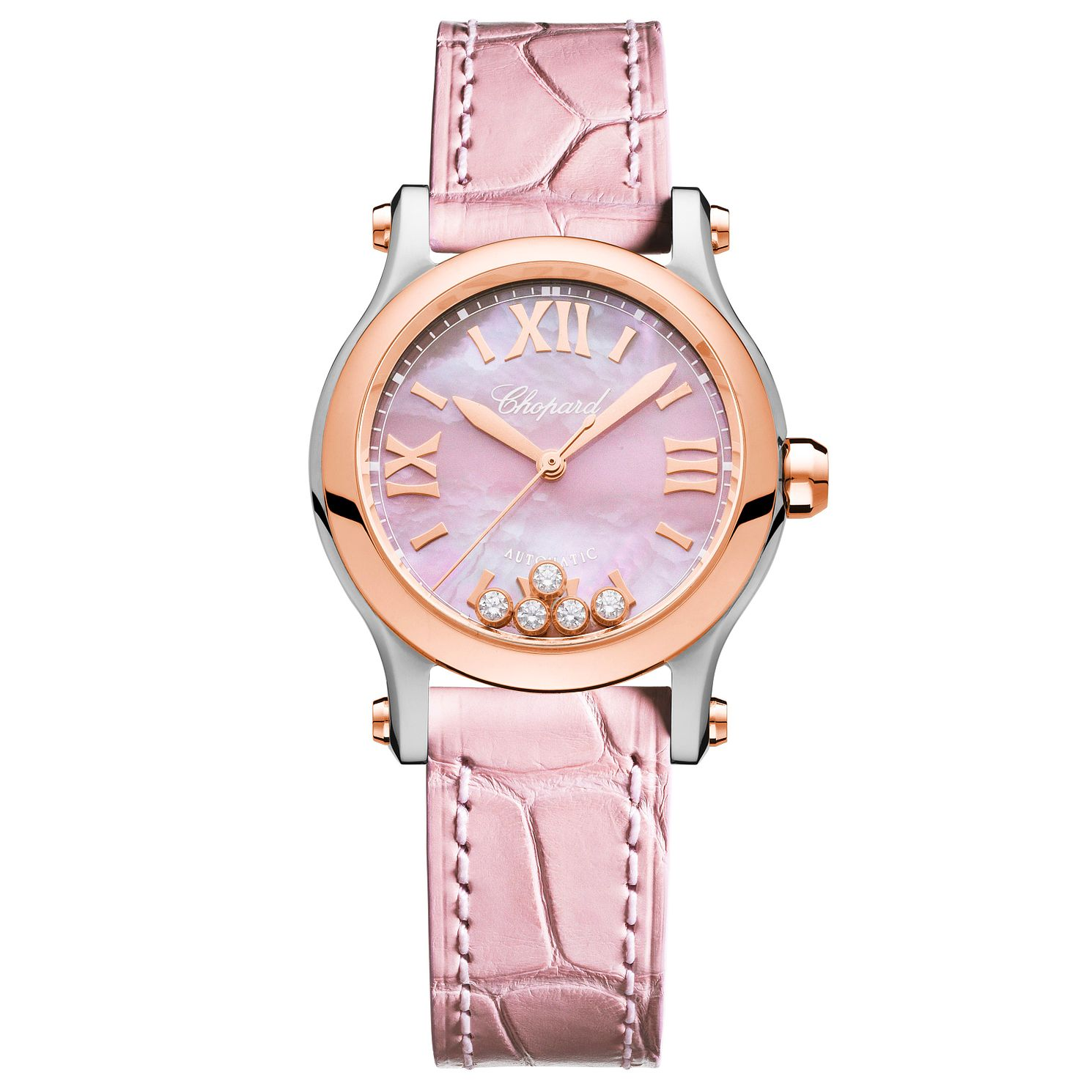 Chopard Happy Sport Ladies' Pink Leather Strap Watch - Product number 4533682