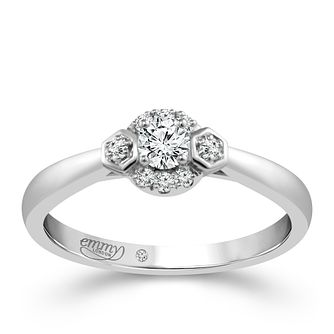 Emmy London 9ct White Gold 0.20ct Total Diamond Ring - Product number 4533690