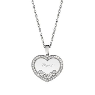 Chopard Happy Diamonds 18ct White Gold Heart Pendant - Product number 4533763