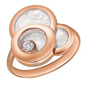 Chopard 18ct Rose Gold Happy Dreams Diamond Ring - Product number 4533879