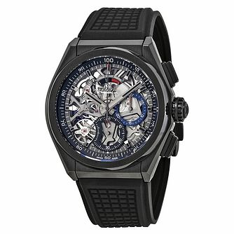 Zenith Defy El Primero Men's Black Rubber Strap Watch - Product number 4534891
