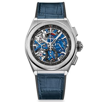 Zenith Defy El Primero 21 Men's Blue Leather Strap Watch - Product number 4534913