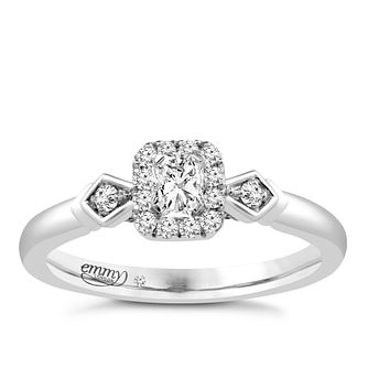 Emmy London Palladium 0.33ct Total Diamond Ring - Product number 4536576