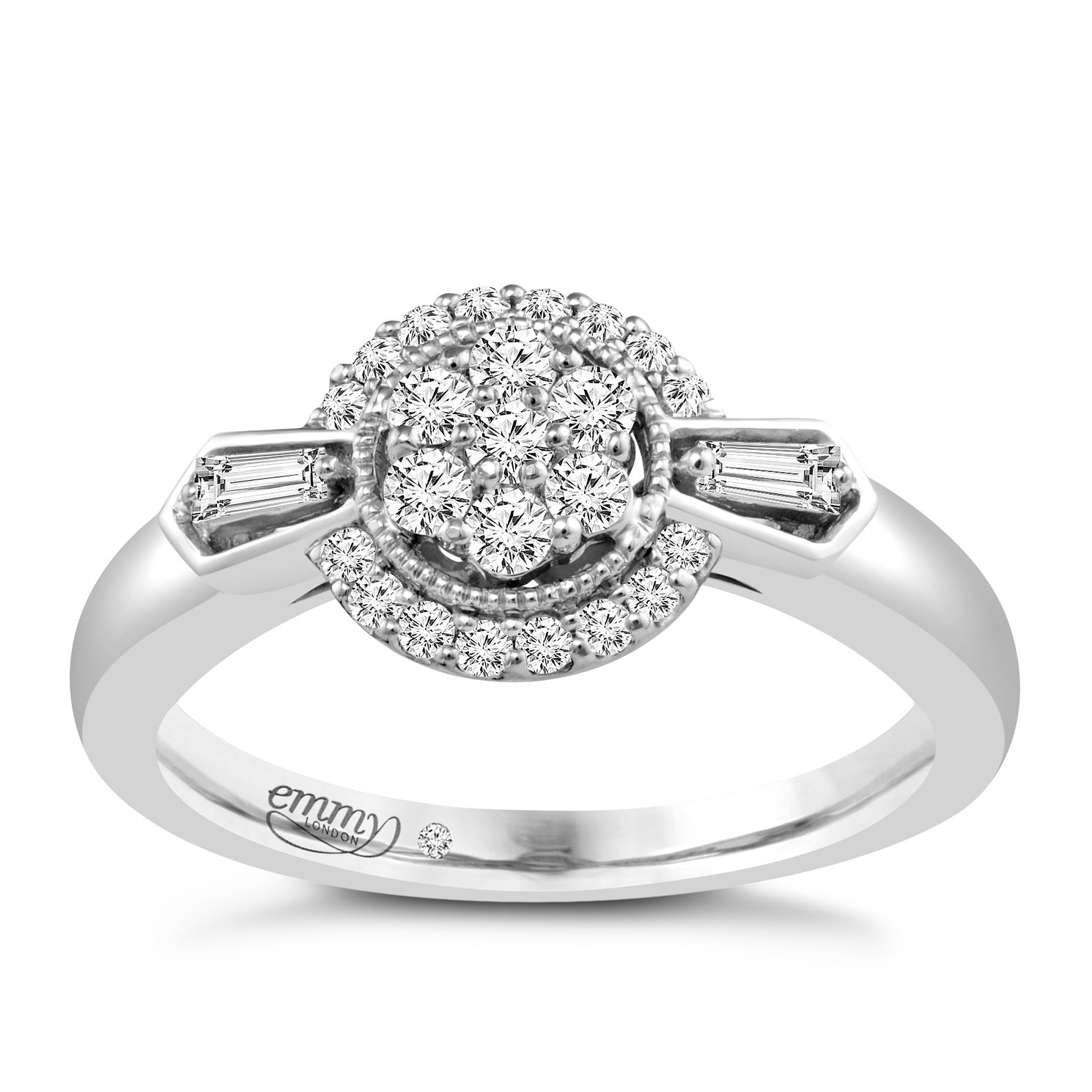 Emmy London Palladium 0.33ct Total Diamond Ring - Product number 4536703