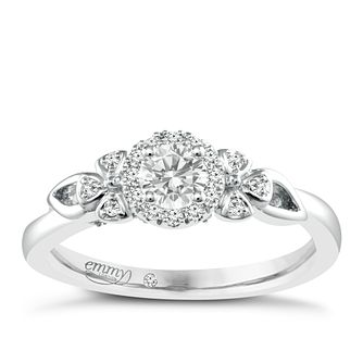 Emmy London Palladium 0.33ct Total Diamond Solitaire Ring - Product number 4537548