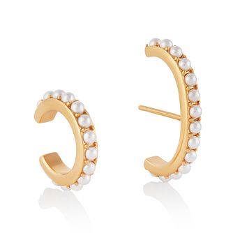 Olivia Burton Yellow Gold Tone Faux Pearl Cuff Earring Set - Product number 4537556