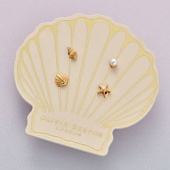 Olivia Burton Yellow Gold Tone Sea Stud Earrings Gift Set - Product number 4537580