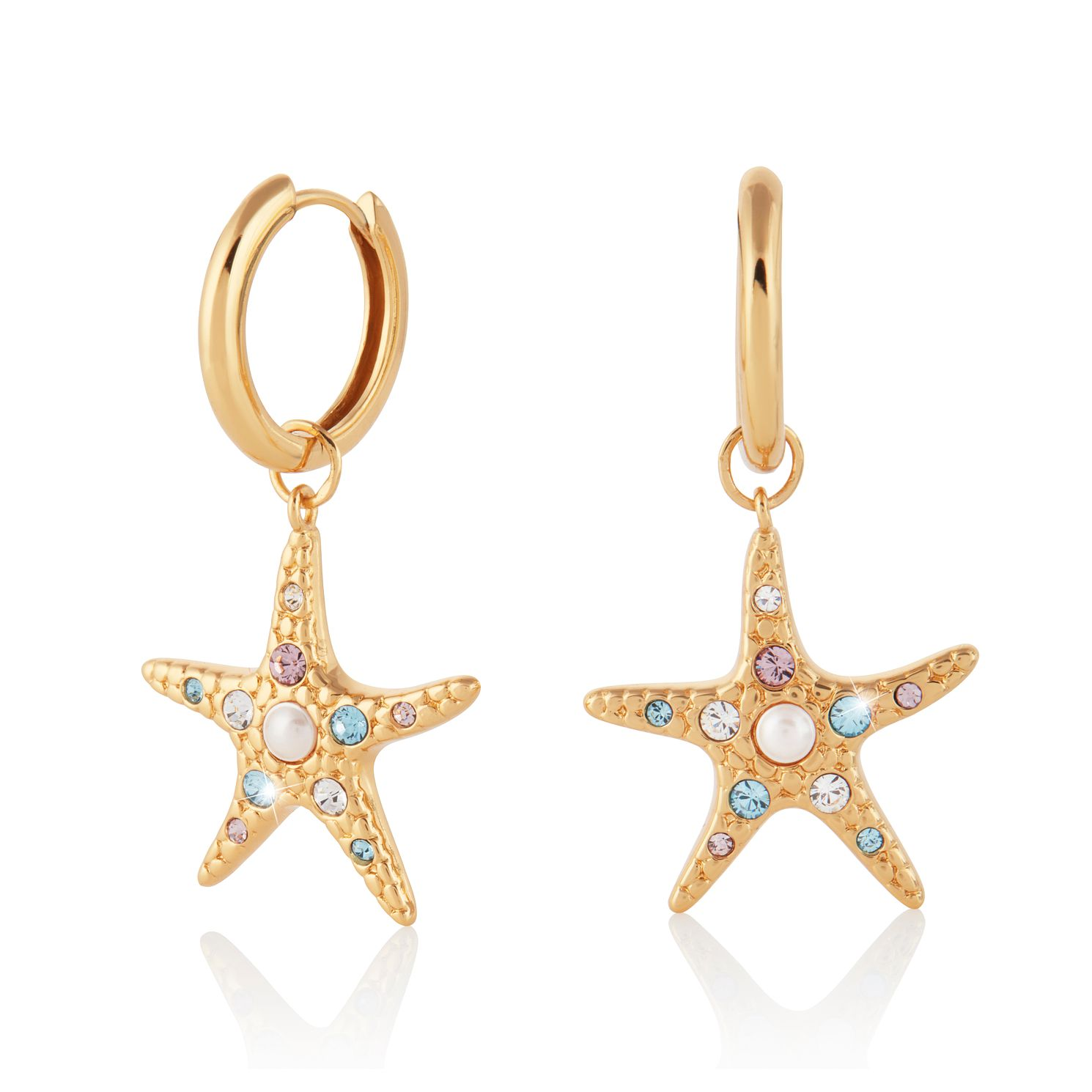 Olivia Burton Gold Plated Silver Starfish Huggie Earrings - Product number 4537769