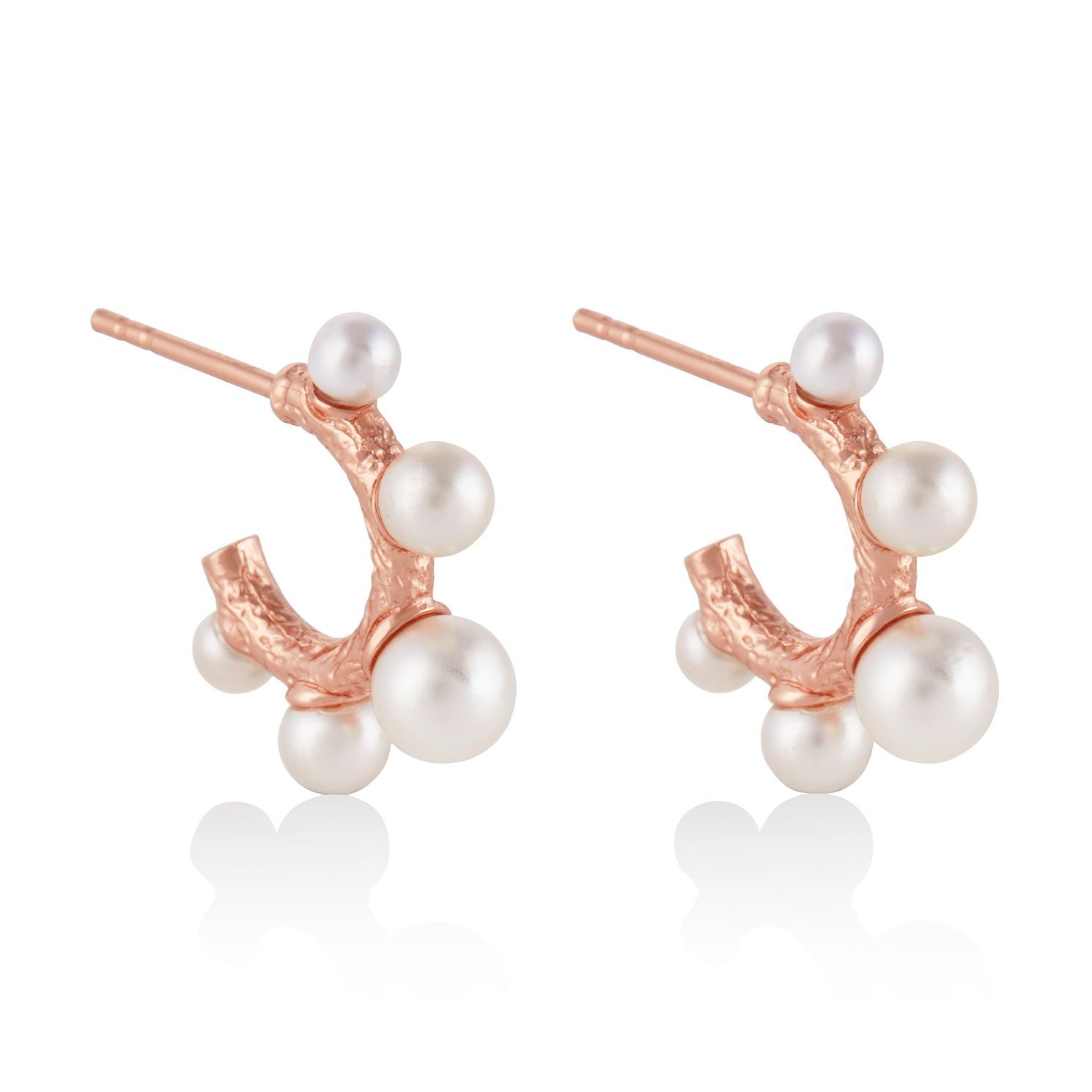 Olivia Burton Rose Gold Tone Coral & Faux Pearl Earrings - Product number 4537807