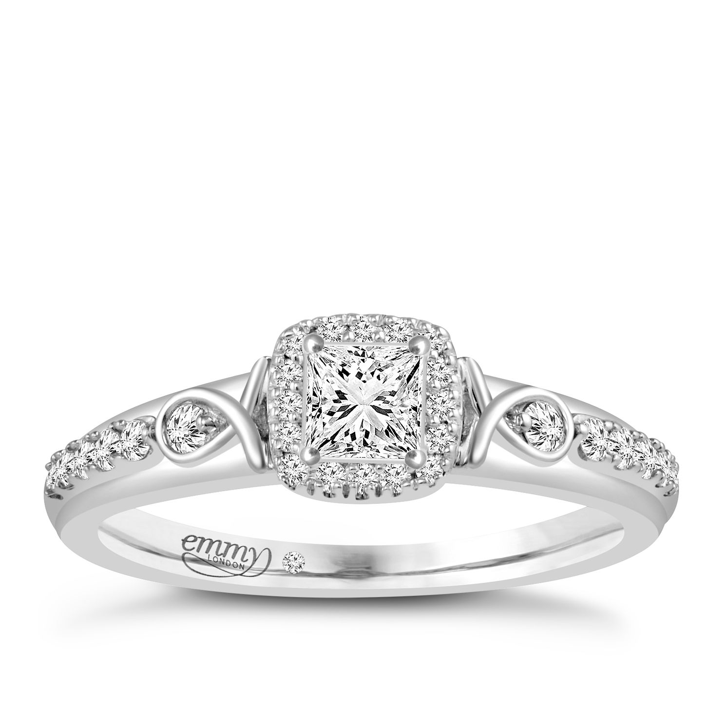 Emmy London 18ct White Gold 2/5 Carat Diamond Solitaire Ring - Product number 4538013