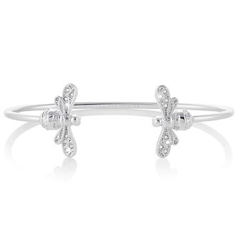 Olivia Burton Rhodium Plated Sparkle Bee Bangle - Product number 4538188