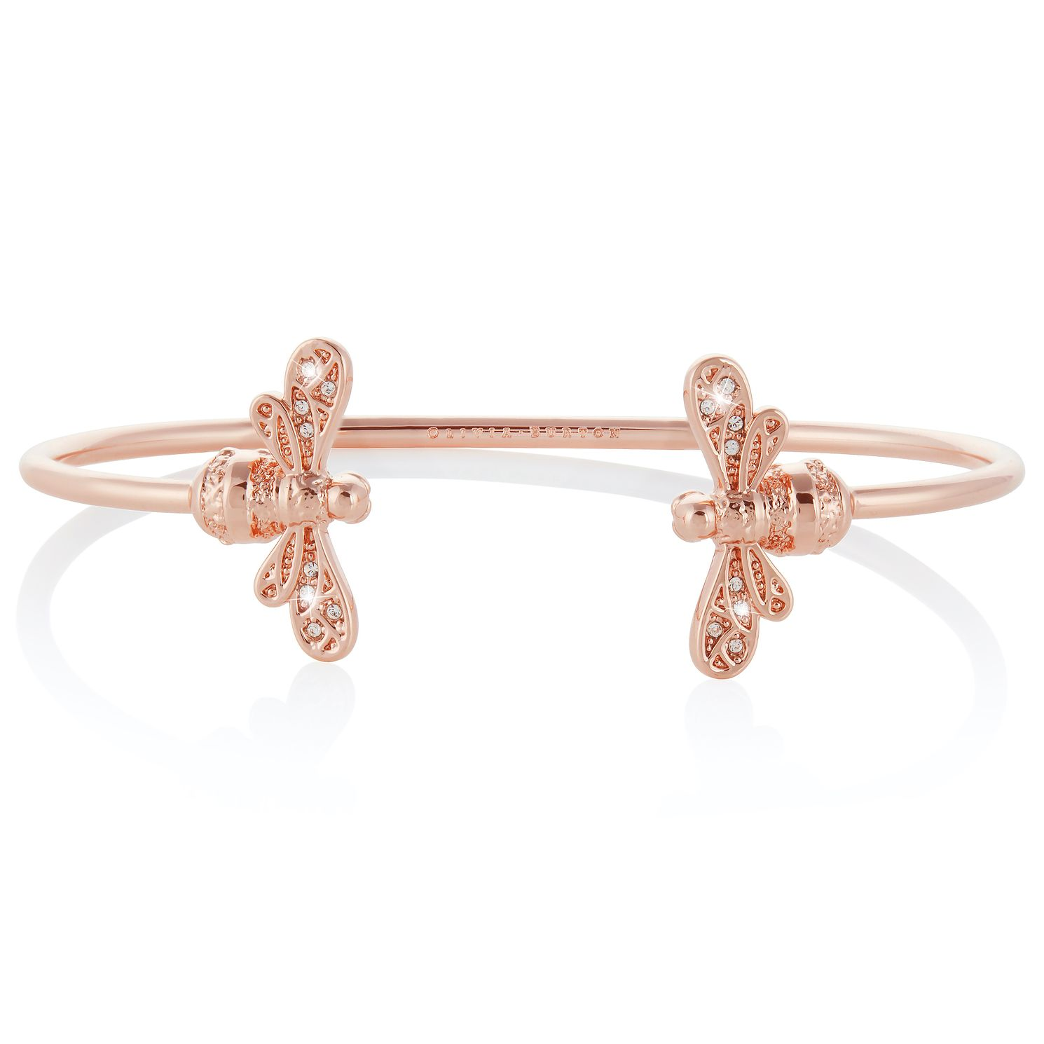 Olivia Burton Rose Gold Tone Sparkle Bee Bangle - Product number 4538242