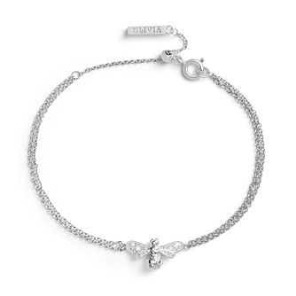 Olivia Burton Rhodium Plated Sparkle Bee Bracelet - Product number 4538250
